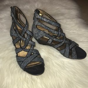 Cynthia Vincent Small Wedge Sandals